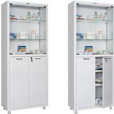 Шкаф медицинский двухстворчатый HILFE МД 2 1670/SG